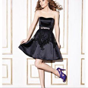 Enzoani Designer black dress strapless 12